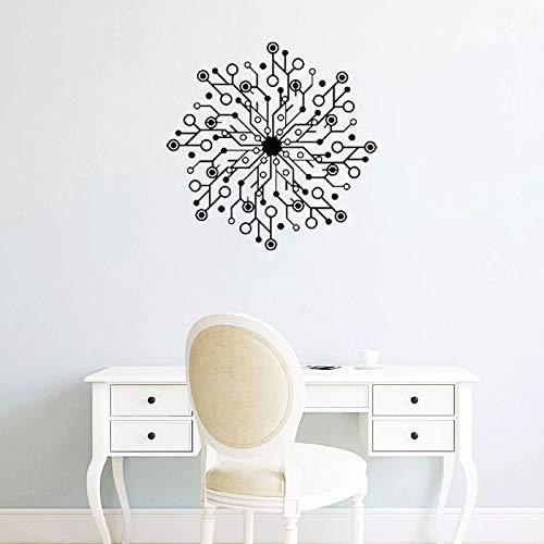WERWN Decoración de cabecera patrón geométrico Vinilo calcomanía Dormitorio Arte decoración del hogar Pintura Pegatina de Pared