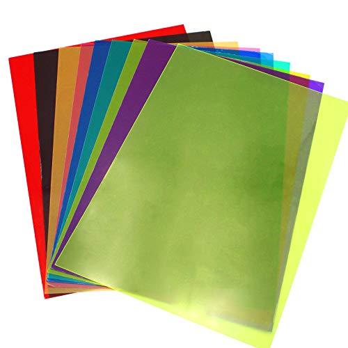 Farbe Filter Transparente 8 Stück, Legasthenie Lesehilfen Hilfe für Kinder, Unterricht und Lesebehinderung