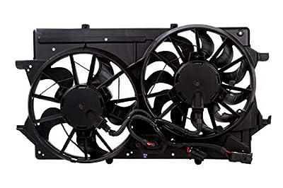 MYSMOT Engine Cooling Fan Assembly Compatible with 2000 2001 2002 2003 2004 Ford Focus 1S4Z8C607AA,1S4Z8C607AC,1S4Z8C607AD