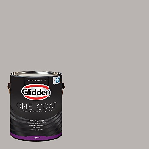 Glidden Interior Paint + Primer: Gray/Gray Marble, One Coat, Flat, 1-Gallon