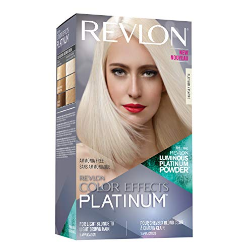 Revlon Color Effects Hair Color, Permanent Platinum Blonde Hair Dye with Nourishing Keratin & Jojoba Seed Oil, Ammonia Free