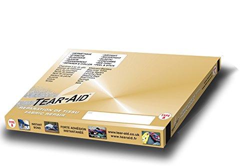 Tear-Aid® Type A - Bande de 15 cm x 30 cm pour la réparation instantanée des Trous et déchirures dans Les Tissus Autres Que Le vinyles ou Le PVC