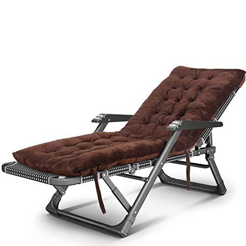 Silla de escritorio de oficina, plegable, reclinable, tumbona, tumbona, silla reclinable, cojín de banco de viaje, vacaciones, respaldo ajustable acostado (color : E)