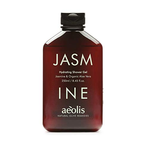AEOLIS Skincare | JASMINE Hydrating Shower Gel | Jasmin & Aloe Vera | Beruhigt trockene und gereizte Haut | 100% natürlich & nachhaltig | Ohne künstliche Zusätze (Jasmin, 250ml)
