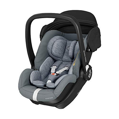 Maxi-Cosi Marble Silla de coche para bebé de grupo 0+, silla de auto reclinable con base isofix incluida,desde nacimiento hasta 13 meses, i-size, color Gris