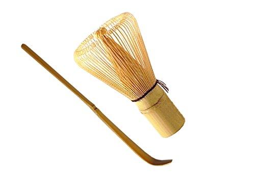 Set di 2 pezzi maoci nibelungentee dell'inghilterra Bambù scopa (Chasen) + bambù cucchiaio (Chashaku) di binocoli eleganti-naturali. de