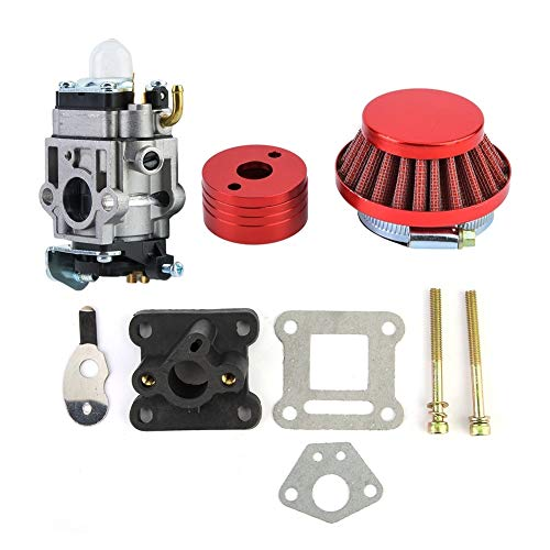 KSTE Vergaser 15mm, Carbon Vergaser, 15mm Vergaser Carb Luftfilter Alloy Stapel Goped Gas Scooter EVO 33cc 43cc 49cc