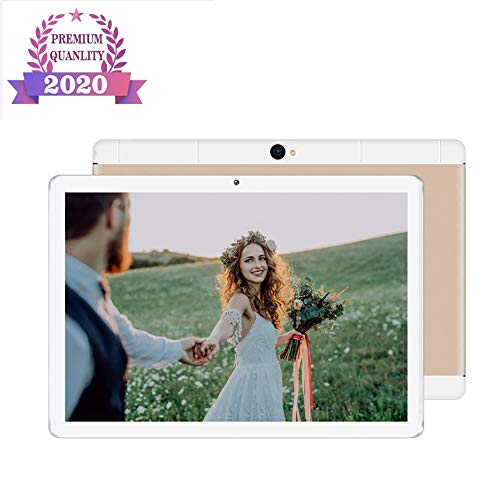 10 Inch Android Tablet, Android 9.0, 32GB opslag, quad-core processor, 1960X1080 IPS HD Display, Wi-Fi, ondersteuning 4G Telefoongesprek,Gold