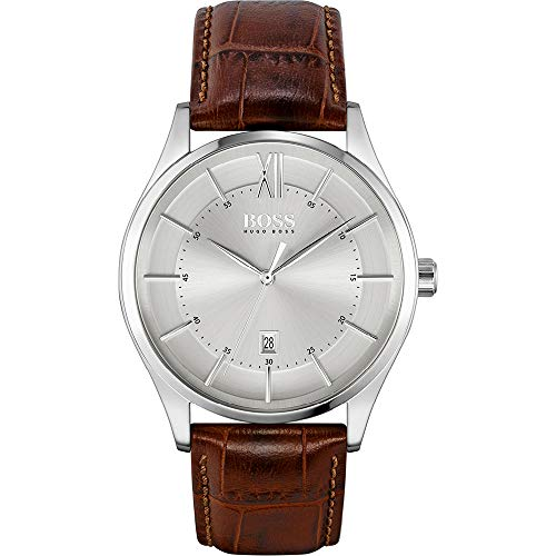 Hugo Boss Quarz Uhr mit Leder Armband 1513795