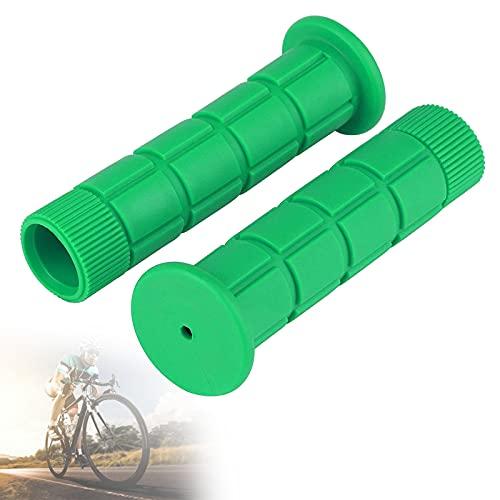 Puños de Goma para Manijas de Bicicleta TPR, Puños Ergonómicos Y Suaves para Manillar de Bicicleta con Diseño Antideslizante, Cómodo Agarre de Bicicleta para Ciclismo, Montaña,Verde