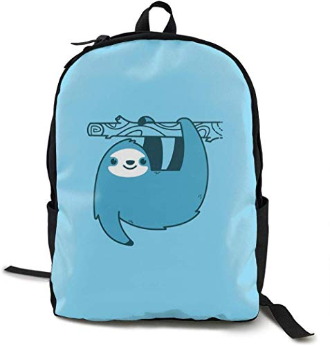 School Bags Backpack,Cute Lightweight Customized Travel Camping Hiking Unisex Creative Backpack School Backpack Sloths Jetpacks Outdoor Leisure Sports Backpack