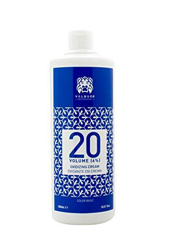 Valquer Profesional Oxigenada Estabilizada en Crema, 20 Volumenes (6%). Coloración