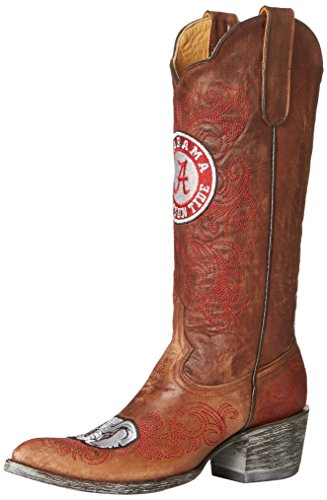 Gameday Boots NCAA Ladies 13 inch University Boot Alabama Crimson Tide, 8.5 B (M) US, Brass