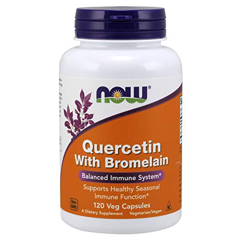 NOW Supplements, Quercetin with Bromelain, Balanced Immune System*, 120 Veg Capsules