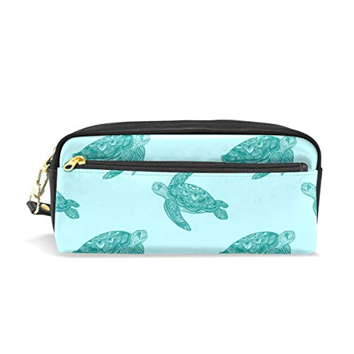 Pencil Case for Kids Girls for School Sea Turtle Pencil Case Cosmetic Makeup Bag with Compartments Cute Pencil Pouch Bag Holder School Stationery