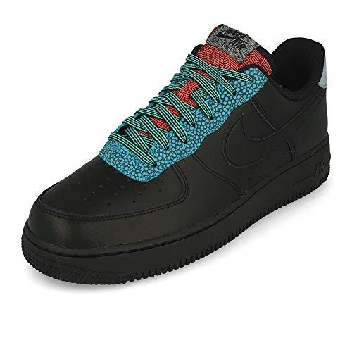 Nike Air Force 1 '07 LV8 4, Scarpe da Basket Uomo, Black/Black/Obsidian Mist/Cool Grey/Blue Fury/BRT Crimson, 41 EU