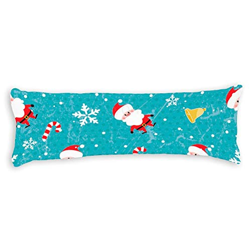 YY-one Decorative Body Pillow Cover Seamless Christmas Pattern Long Body Pillow Case 20x60 Inch
