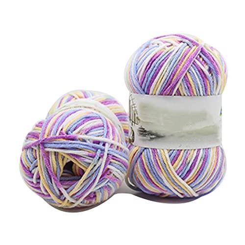 Hilado de hilo grueso Hilado de crochet 50g Hilo de algodón para tejer 4 8 10 o 20 rollos degradado...