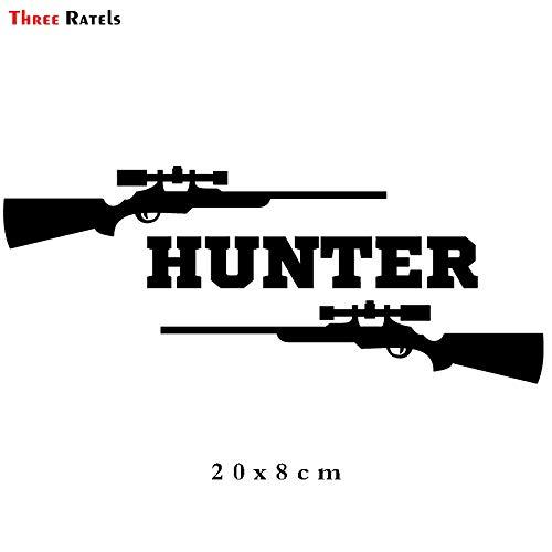 PJYGNK Sticker de Carro ALWW213# 20x8cm para Volkswagen Hunter con Dos Pistolas Rifle de FrancotiradorPegatinasDivertidas paraCoche y calcomanías Autoadhesivas
