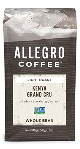 Allegro Coffee Kenya Grand Cru Whole Bean Coffee, 12 oz