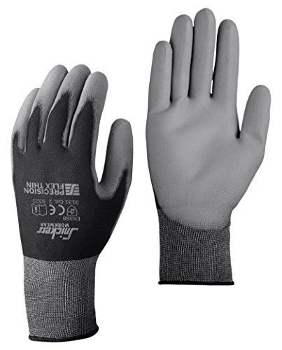 Snickers 93210448009 Präzisions Flex Handschuhe Light, grau/schwarz, 9