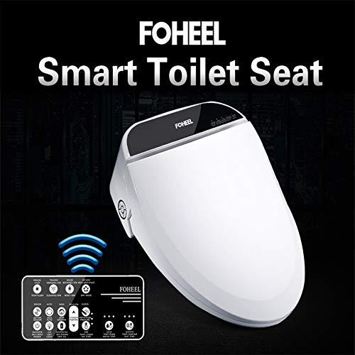 BTSSA Dusch-WC Bidet,Intelligente Induktion WC-Sitz Dusche mit Sitzheizung Doppeldüse Klobrille Nachtlicht Trocknungsfunktion Intelligente Desodorierung,47.5cm*38cm