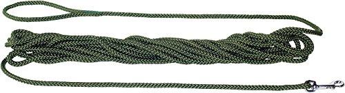 HUNTER Feldleine, Suchleine aus reißfestem Polyamidseil, Handschlaufe, für Jagd, Training und Ausbildung, 20 m, grün