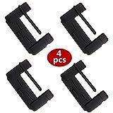 シリコン シートベルトカバー&バックルカバー 3色 傷防止 洗える カー用品 (ブラック 4個セット)
