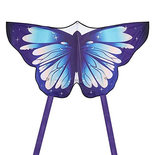 TOYANDONA Cometa de Mariposa, Hermosa Cometa de Mariposa para Niños Cometa Fácil de Volar para Juegos Y Actividades Familiares Al Aire Libre (Viene con Una Cuerda de Cometa de 100M)