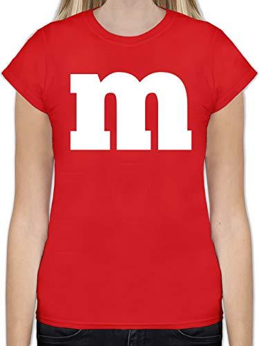 Karneval & Fasching - Gruppen-Kostüm m Aufdruck - S - Rot - L191 - Tailliertes Tshirt für Damen und Frauen T-Shirt