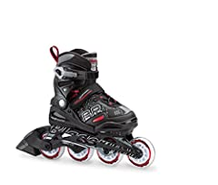 BEST KIDS VALUE INLINE SKATE FOR ANY LEVEL Value driven, kids adjustable skate with great features to prove spending less does not always mean getting less. KIDS ADJUSTABLE 4 SIZES Phoenix low profile structure adds support and an easy to use adjustm...