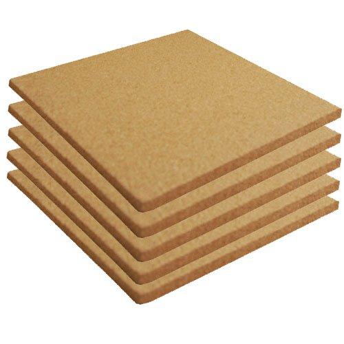 Cork Sheet Plain 12' X 12' X 3/16' - 5 Pack