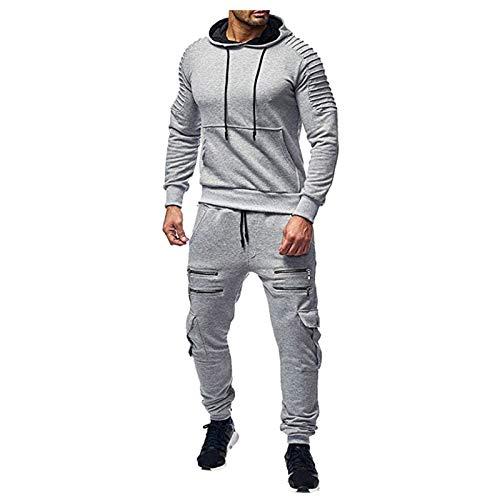Mens Sweatsuit Jogging Suits 2 Piece Hoodies Sweatpants Sets Track suits Casual Full Zip Camo Athletic Sweat Suits