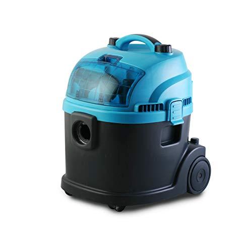 Handstofzuiger/huishoudelijke stofzuiger, nat- en droogreiniging, automatisch opheffen, verstelbare zuigkracht, grote capaciteit 20 l, geschikt voor huis/bedrijf/hotel (blauw)