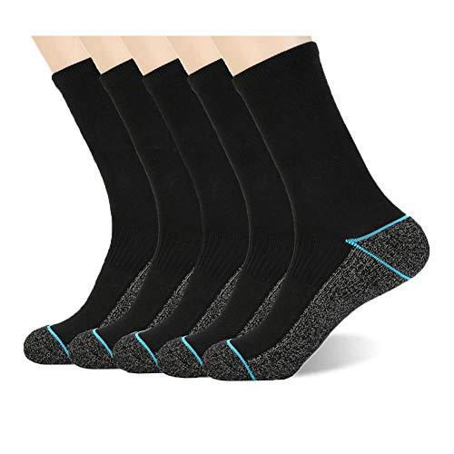 Kupfer Antibakterielle Athletische Socken für Männer und Frauen-Feuchtigkeits-Docht, rutschfeste Kissen Knöchelsocken, Blue
