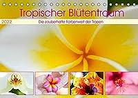 Tropischer Bluetentraum (Tischkalender 2022 DIN A5 quer): Farbenfroh mit tropischer Bluetenpracht durchs ganze Jahr. (Monatskalender, 14 Seiten )