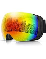 【最新型】QZT スキーゴーグル スノーゴーグル スノーボードゴーグル メガネ対応 レンズ着脱可能 広視野 UV400 99%紫外線カット 曇り防止 防風 防雪 防塵 耐衝撃 球面ダブルレンズ 3層スポンジ 通気 男女兼用