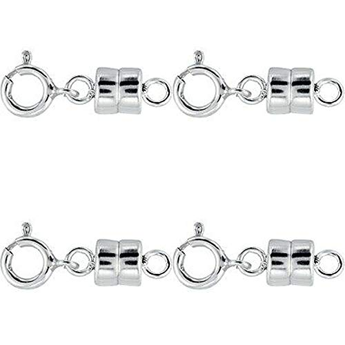 4 - New Solid .925 Sterling Silver Barrel Magnetic Converter Necklace Clasp for Necklaces, Bracelets, and Anklets. - Jewelry by Sweetpea