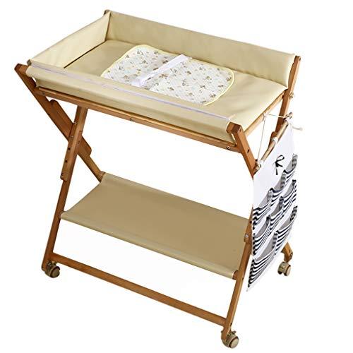 LIU UK Baby Changing Table Station De Bain Pliante en Bois Massif pour Bureau avec Couche pour BéBé Accueil Touch Massage Massage Station De Stockage De Meubles De PéPinièRe