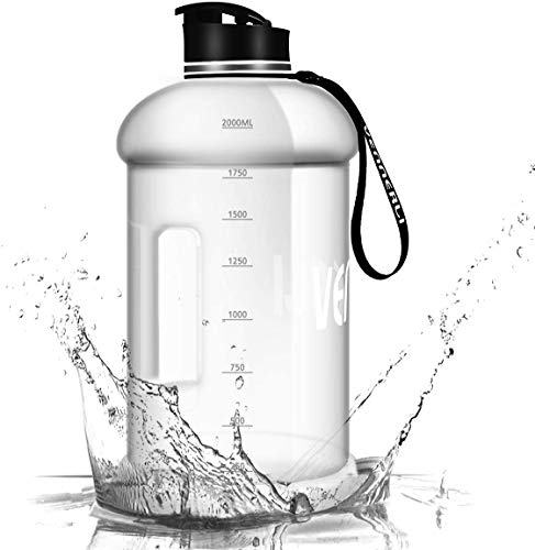 VENNERLI 2,2 Liter Trinkflasche Groß Sport Wasserflasche mit Griff Gym Bottle BPA Frei Fitness Training Plastik Sportflasche Auslaufsicher Ideal für Sport Gym Fitness Büro Heim
