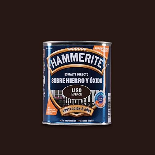 Hammerite Esmalte directo sobre hierro y óxido Liso Brillante Marrón 750 ml