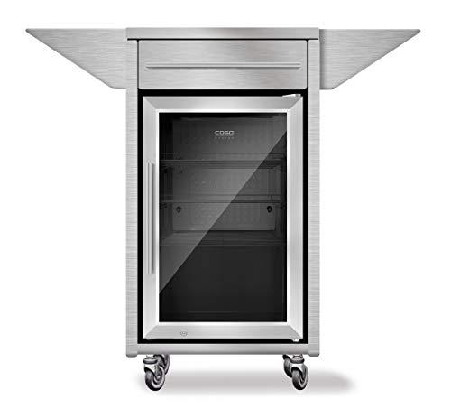 Caso Counter & Cool-R Kühlschrank mit Ablageflächen, Edelstahl