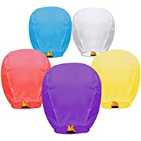 5-Pack Kexle Chinese Sky Paper Lanterns