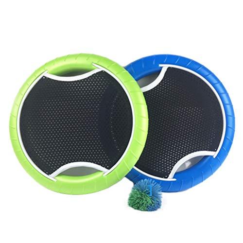 Juego de pelotas de remo para cama elástica al aire libre Frisbee Juguetes con bola voladora Disco Juego de playa Bouce-Back Trampoline Paddle Ball Juego para Playa, Parque, Jardín, Escuela Viajes