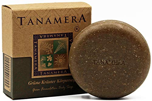 Tanamera grüne Kräuter Körperseife 100 g Anregendes & sanftes Körperpeeling