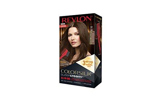 Revlon Colorsilk Buttercream Hair Dye, Medium Ash Brown, 1 Count