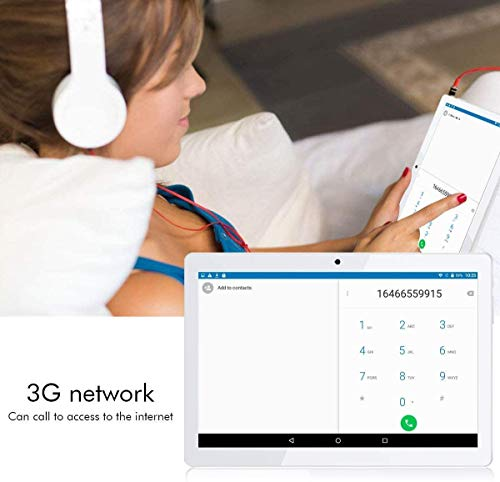 Android 8.1 Tablet 10 Zoll 1920 * 1200 Full HD IPS Touchscreen,Dual Kamera 3MP und 8MP, 4GB RAM 64GB Speicher Octa core CPU, WiFi/WLAN/Bluetooth/GPS TYD-107(weiß)