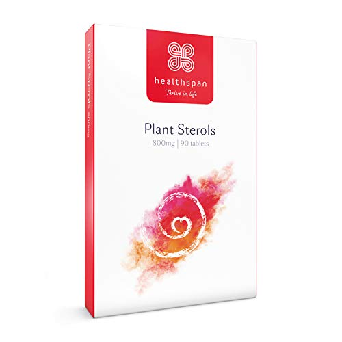 Healthspan Plant Sterols 800mg to Maintain Normal Cholesterol Levels, 90 Tablets, Vegan