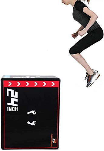 """papababe 3 in 1 20'' x 24'' x 30"""" Foam Plyometric Box Jumping Exercise"""