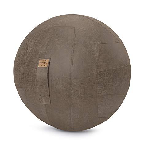 Sitzball Frankie Lederimitat braun ca.65cm Durchmesser